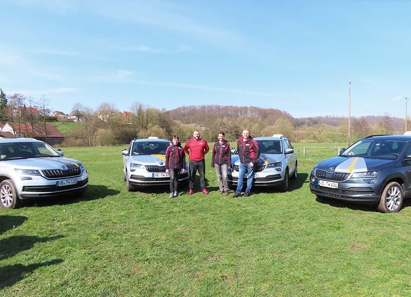 Fahrschule Traffic Work Team und Fahrzeuge
